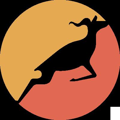 Our logo, which is a straightforward gazelle